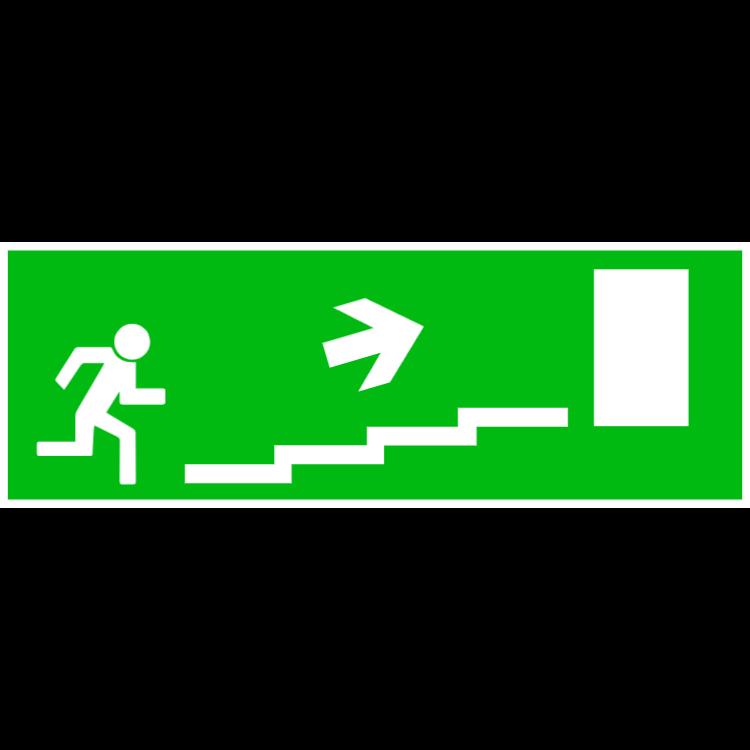 Nödutgång trappa upp höger