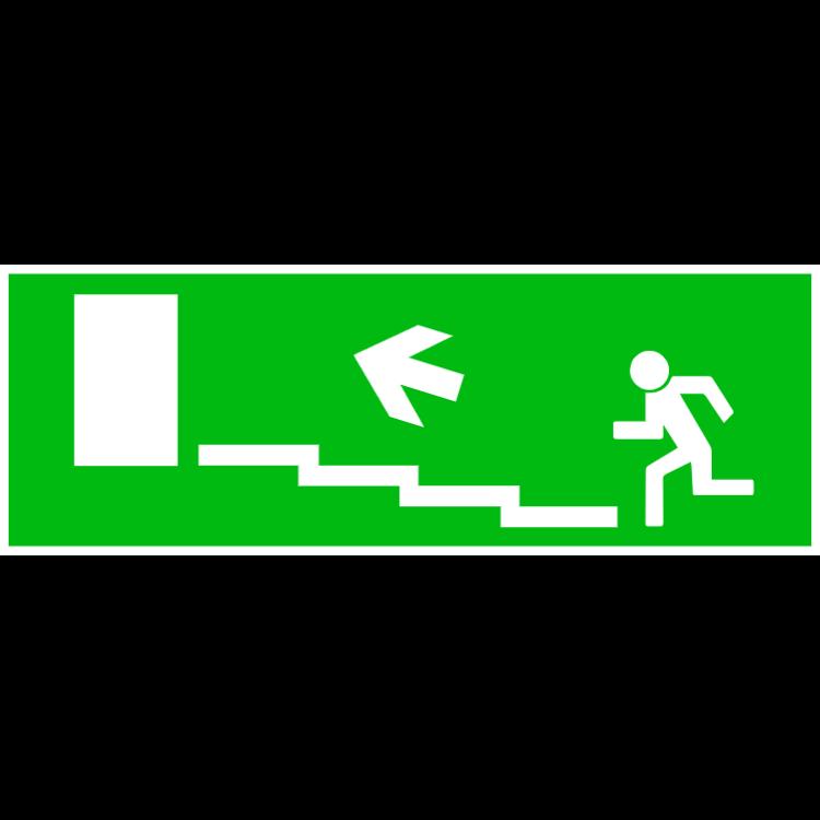 Nödutgång trappa upp vänster