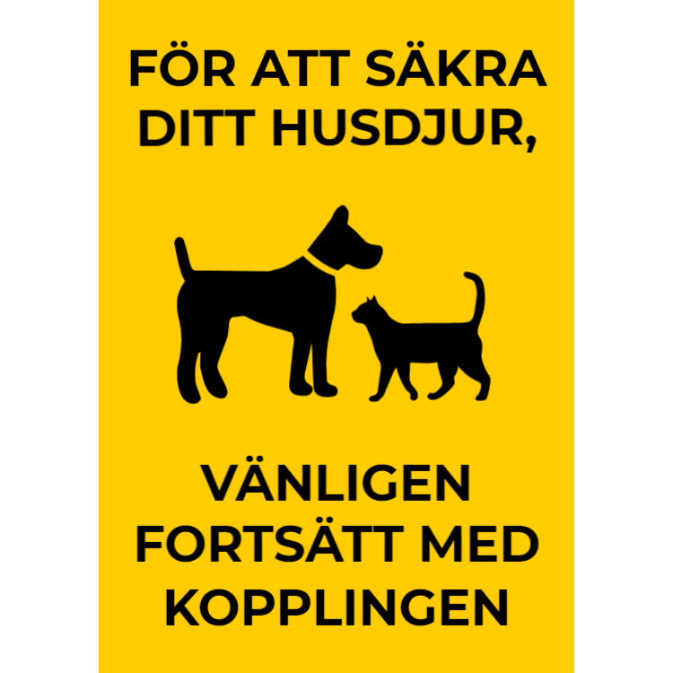 Husdjurskylt