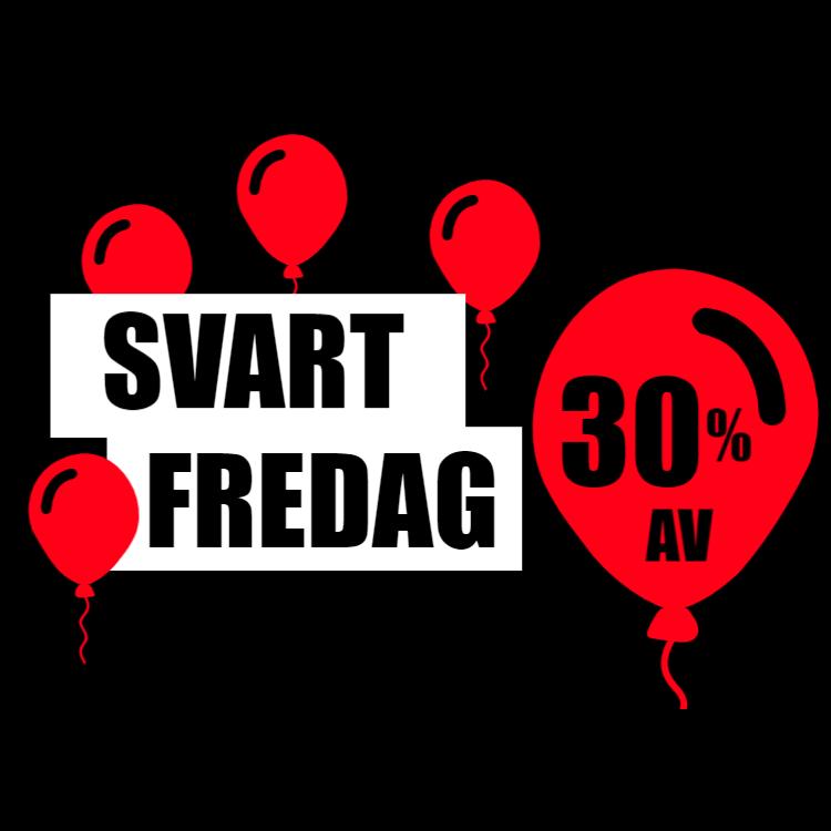 SVART FREDAG -30 skylt