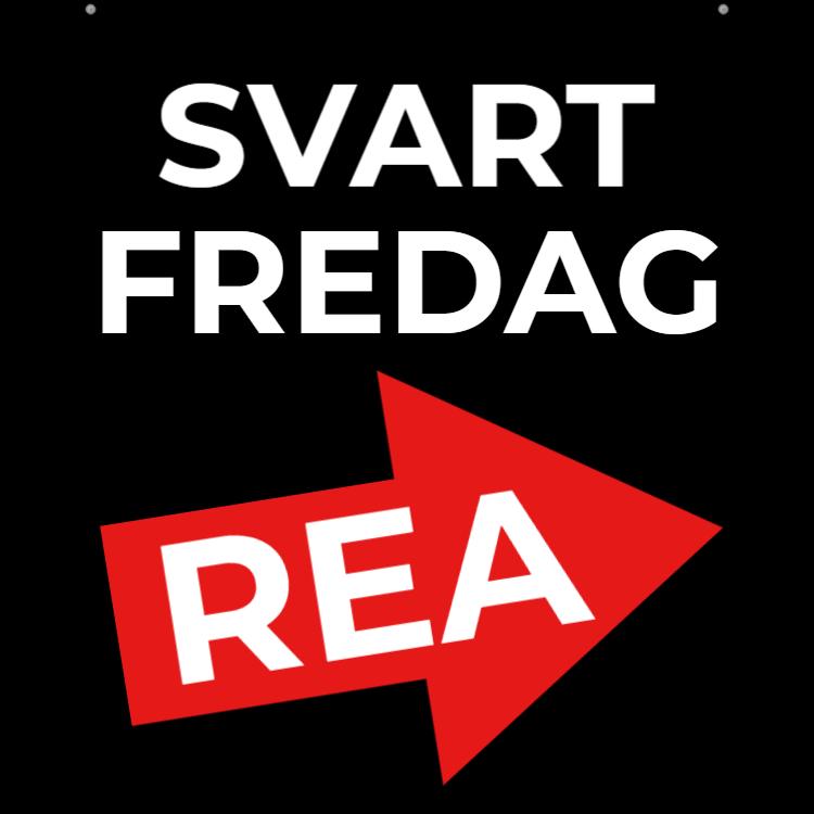 SVART FREDAG skylt