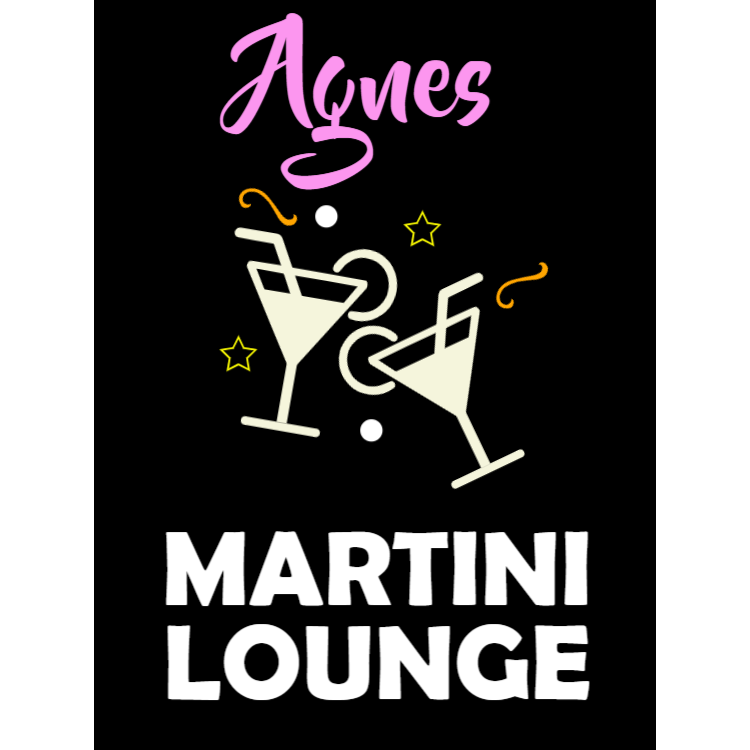 Martini lounge skylt