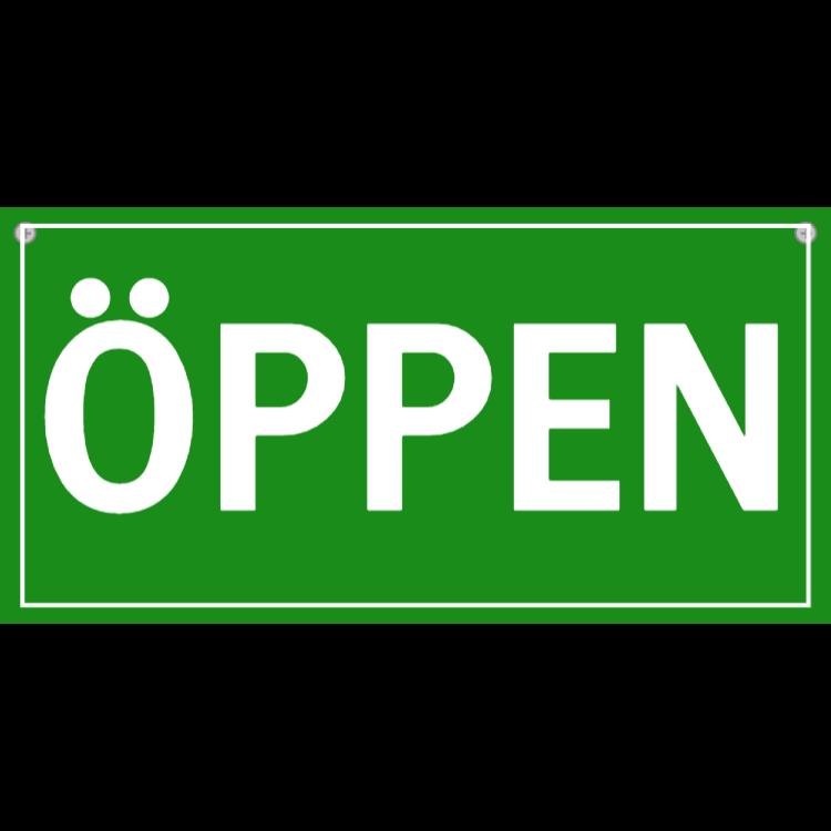 Öppen skylt