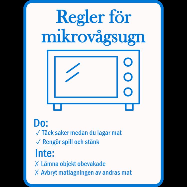 Mikrovågsregler tecken