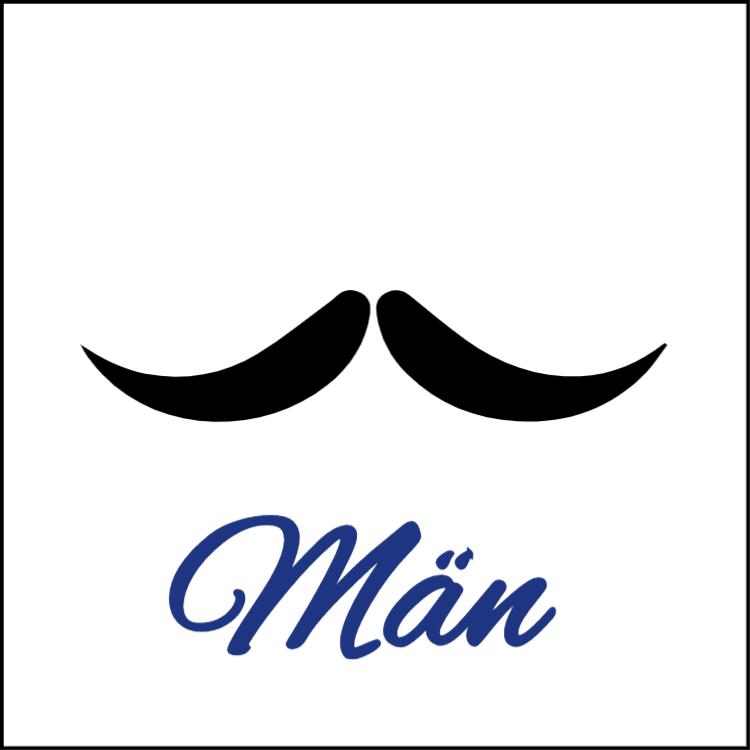 Mustasch - Toalett tecken