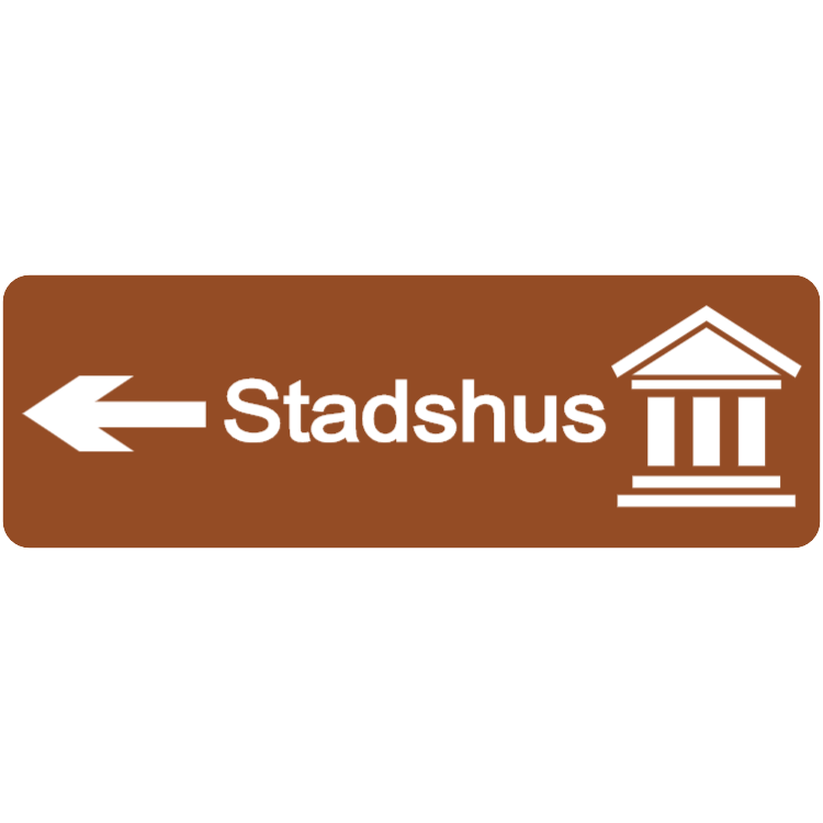 Stadshus - turistriktning