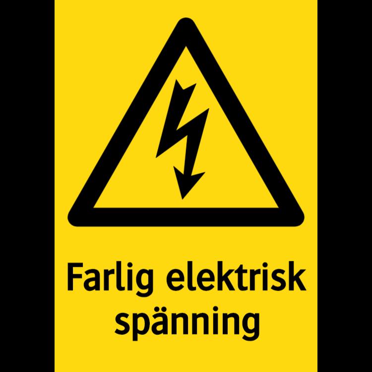 Farlig elektrisk spänning