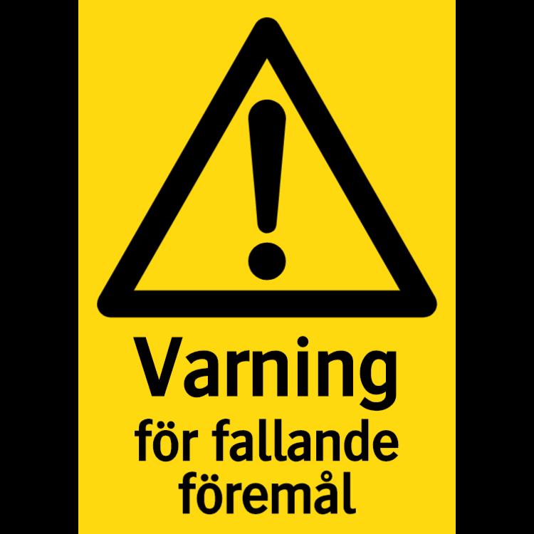 Varning för fallande föremål