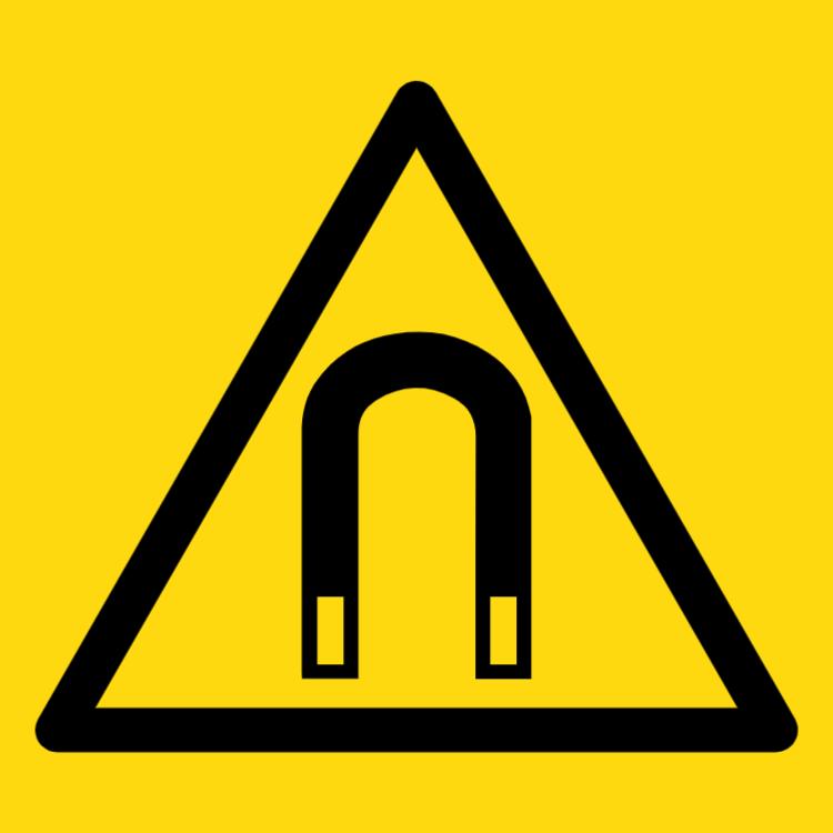 Kraftigt magnetfält symbol