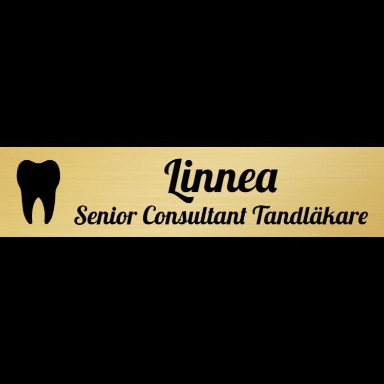 Guld namnskylt för tandläkare