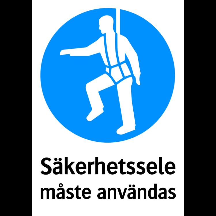 Säkerhetssele måste användas