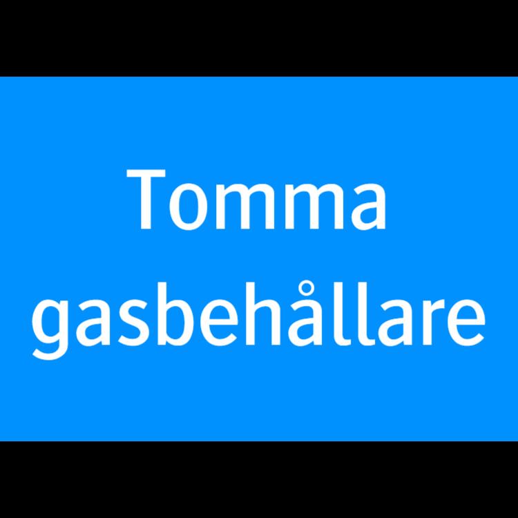 Tomma gasbehållare