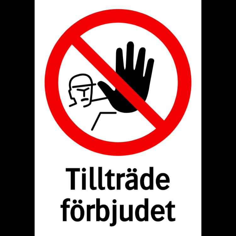 Tillträde förbjudet