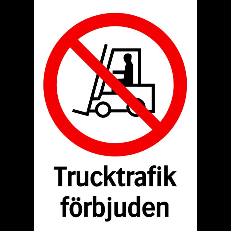 Trucktrafik förbjuden