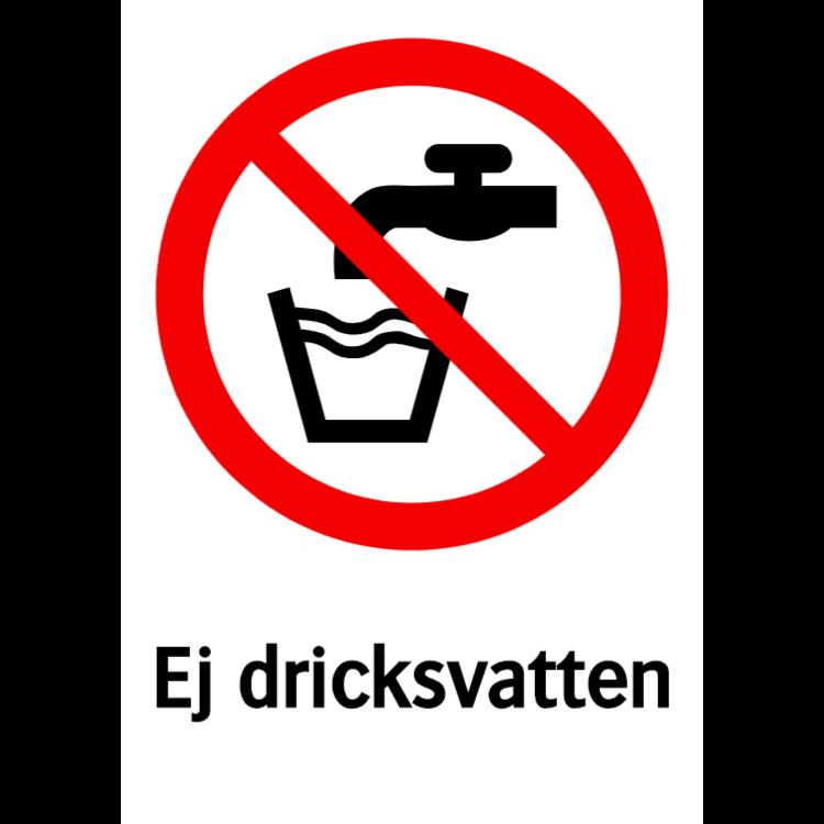 Ej dricksvatten