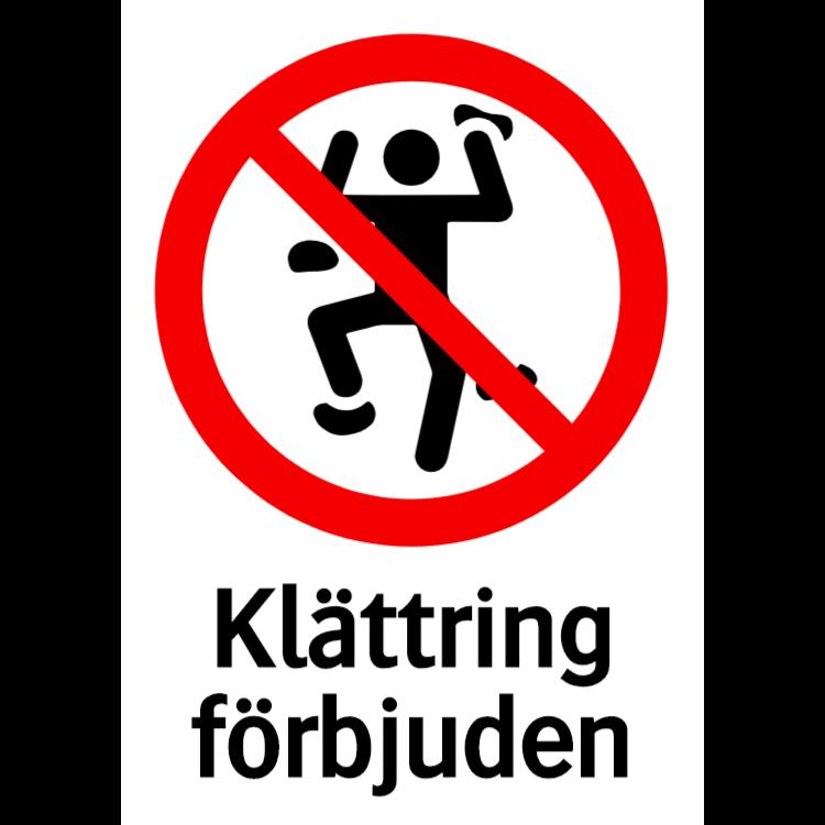 Klättring förbjuden