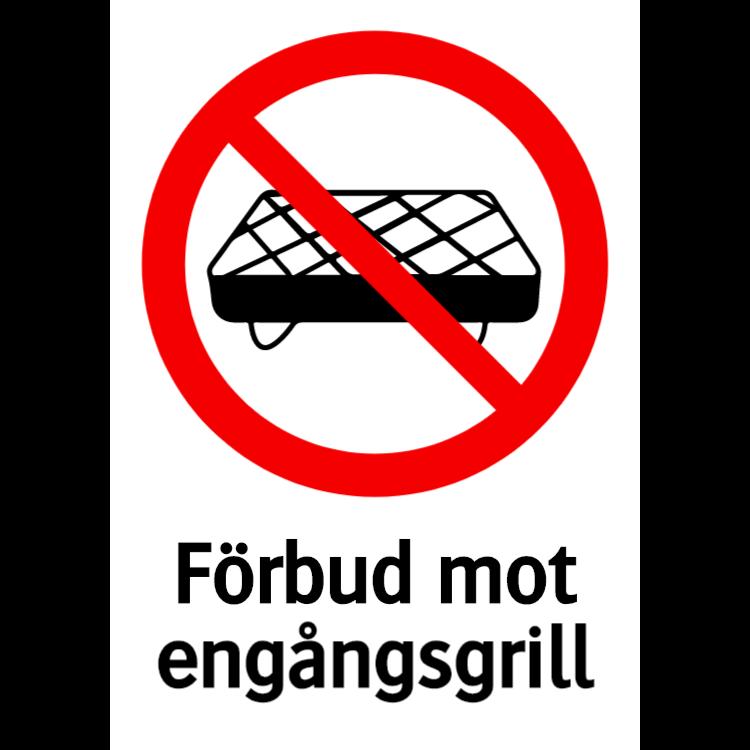 Förbud mot engångsgrill