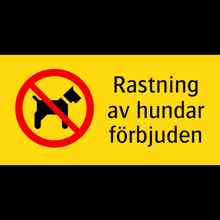 Rastning av hundar förbjuden