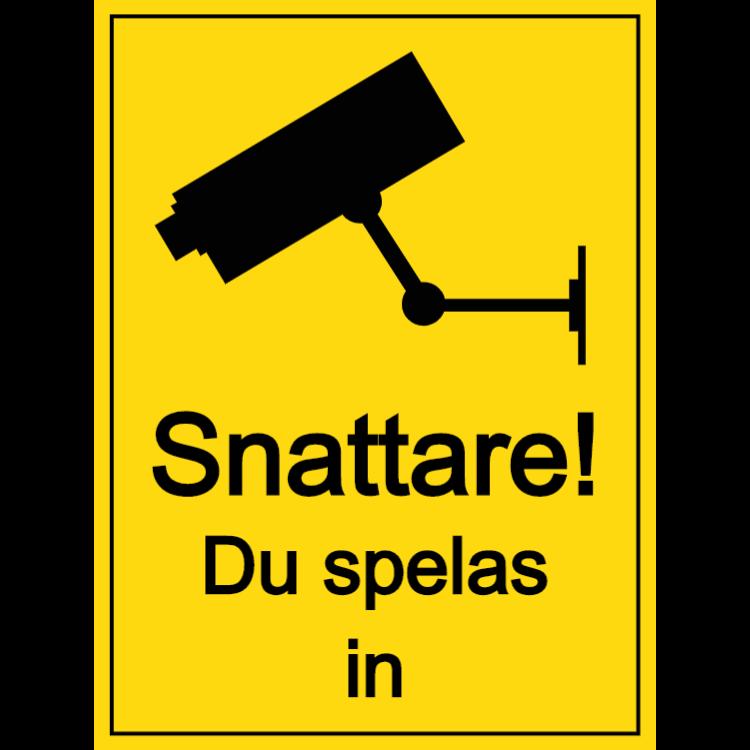 Shoplifters - du registreras skylt