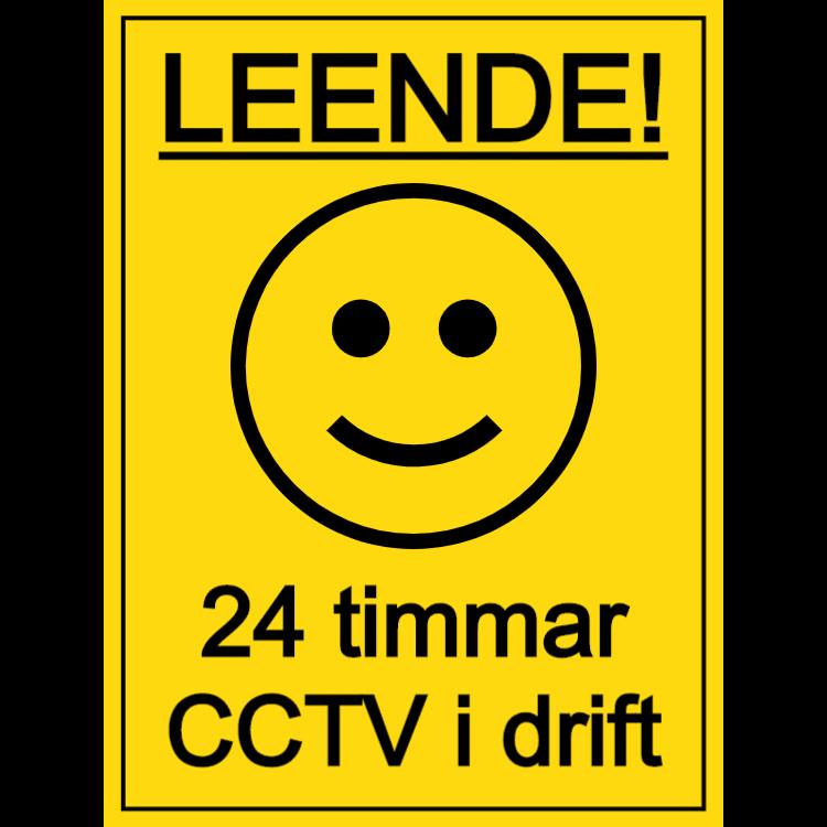 Leende - 24 timmar CCTV i driftstecken