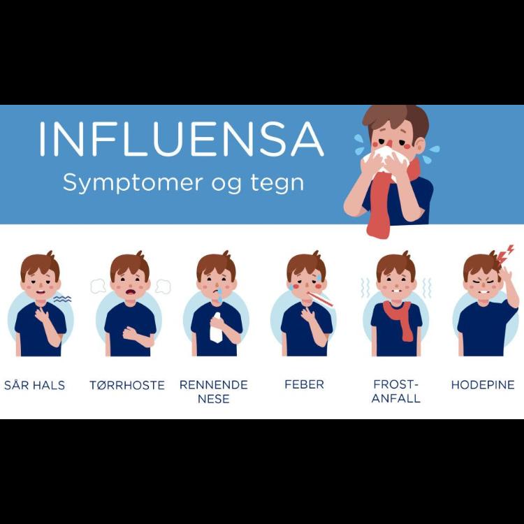 Influensa symptomer og tegn