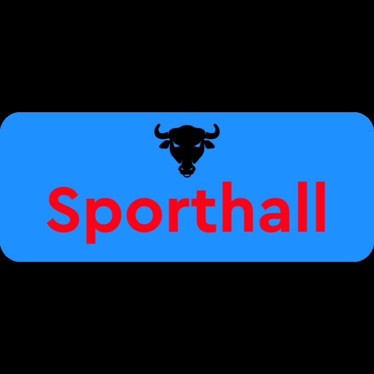 Sporthall dörrskylt