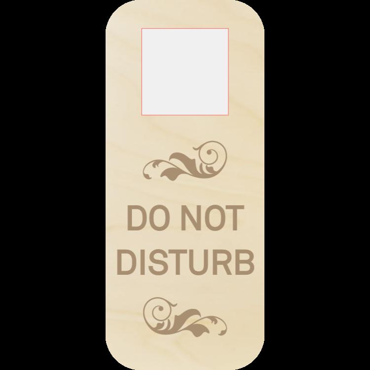 Stör inte dörrhängaren - trä