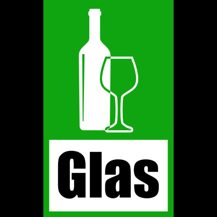 Grön klistermärke för glas