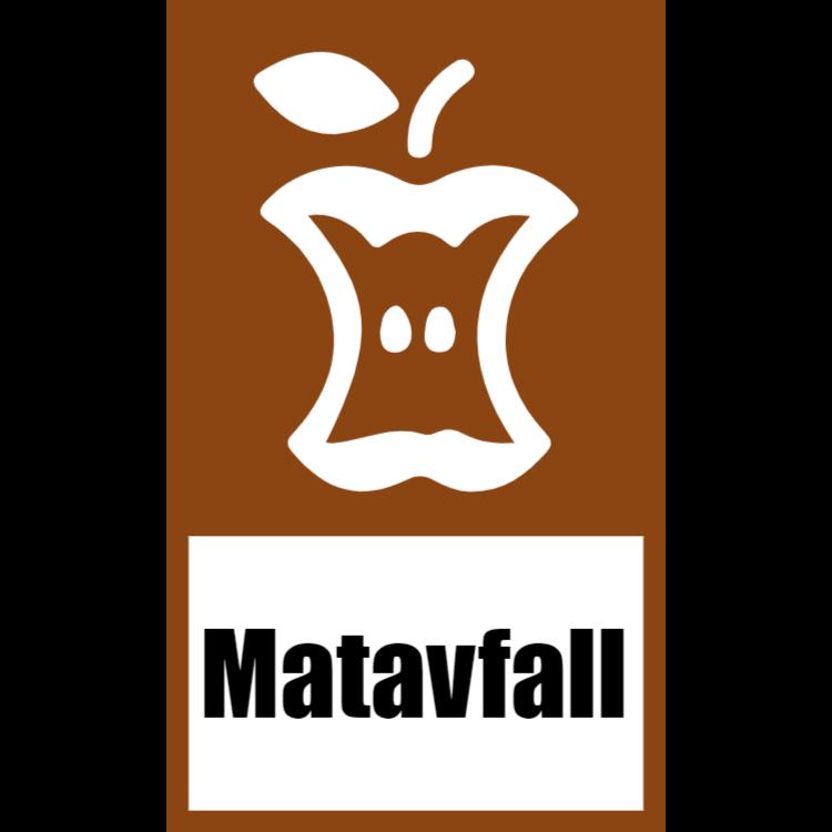 Brun klistermärke för matavfall