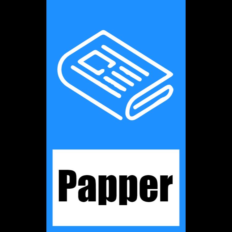 Blå klistermärke för papper