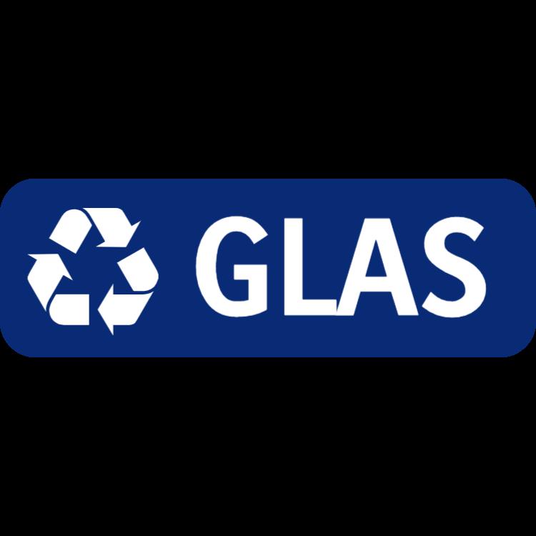 Mörkblå glas landskap klistermärke