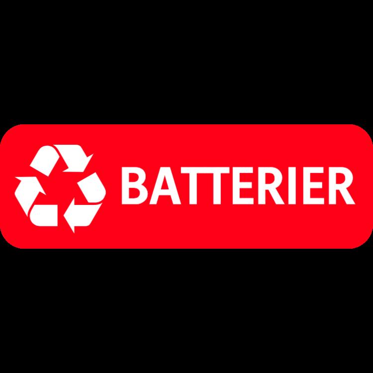 Röd batterier landskap klistermärke