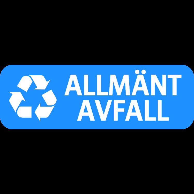 Ljusblå allmänt avfall landskap klistermärke