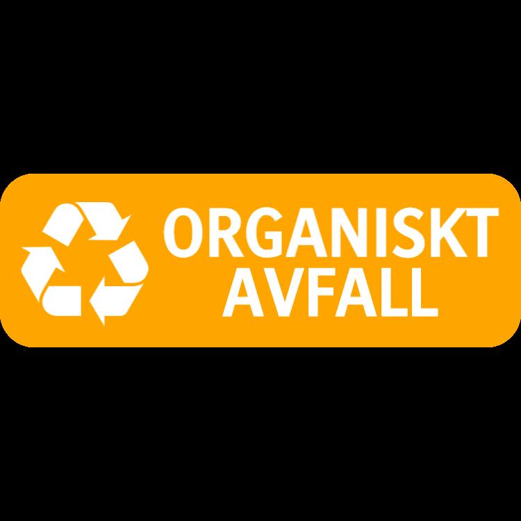 Orange organiskt avfall landskap klistermärke