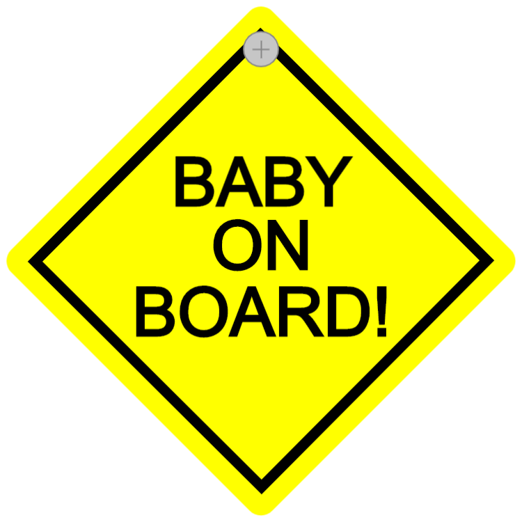Bilskylt - Baby on board