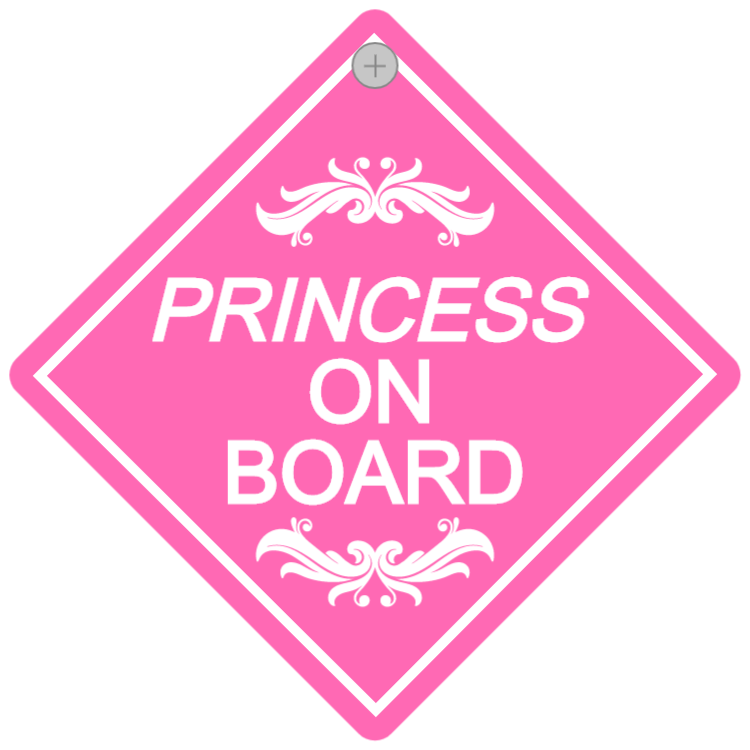 Bilskylt - Princess on board