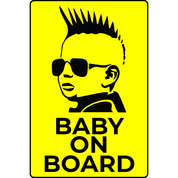 Rock baby on board klistermärke