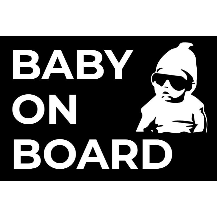 Cool baby on board klistermärke