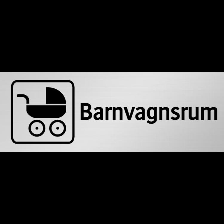 Barnvagnsrum skylt