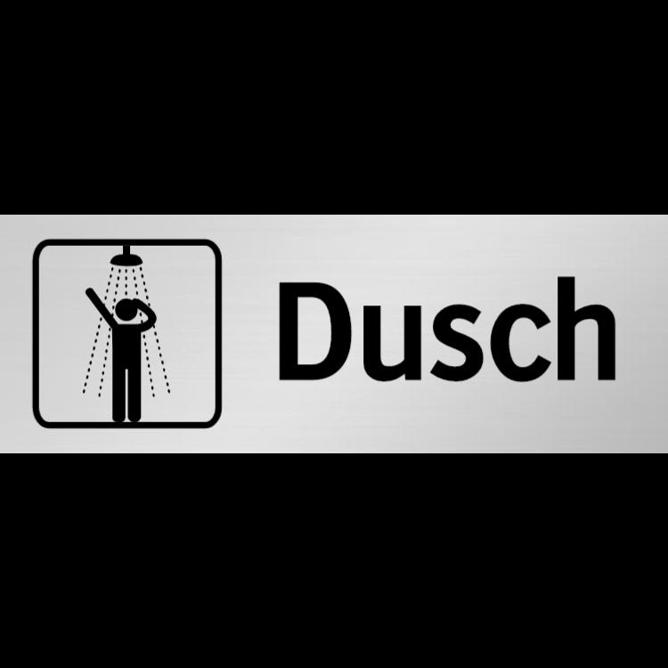 Dusch skylt