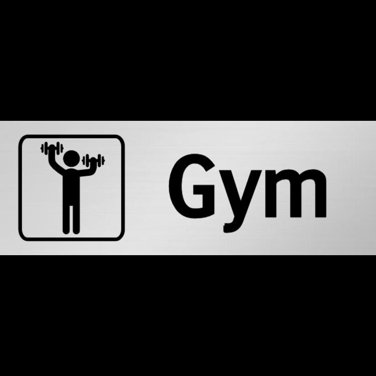 Gym skylt
