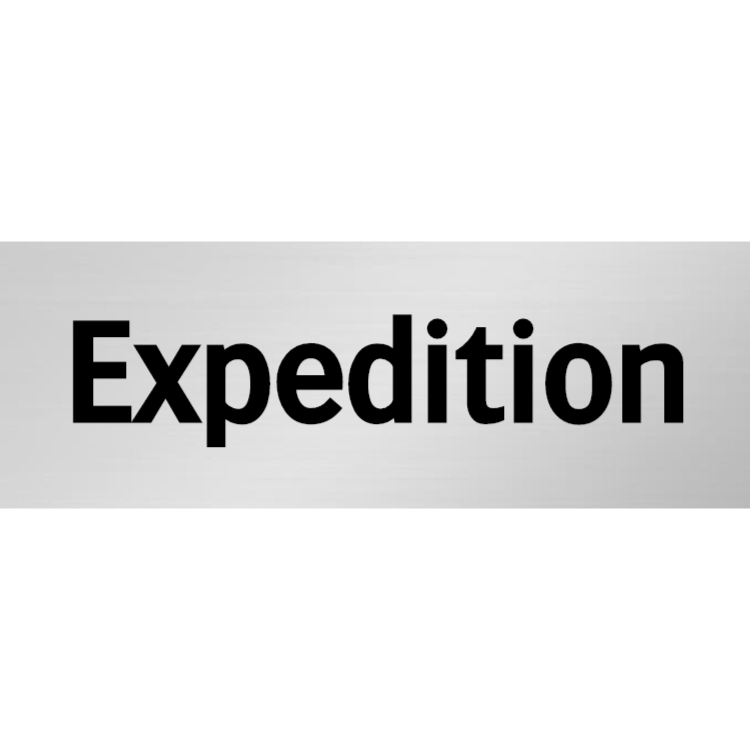 Expedition skylt