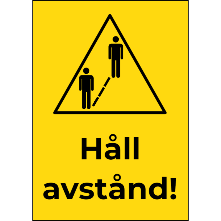 Håll avstånd tecken