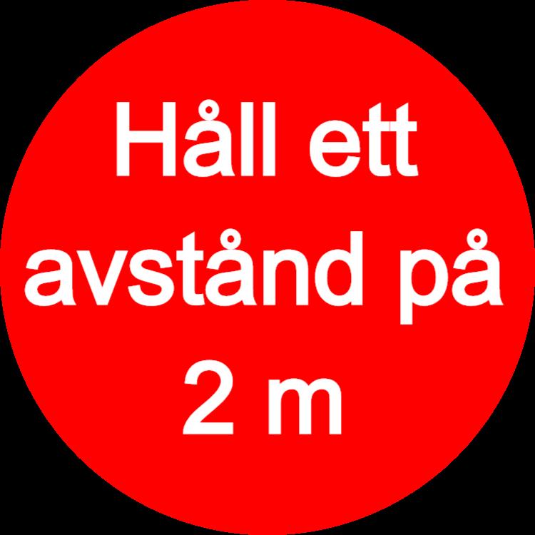 Håll ett avstånd på 1,5 m