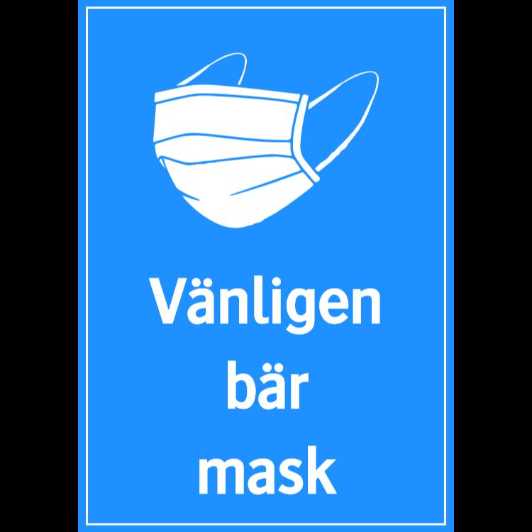 Vänligen bär mask