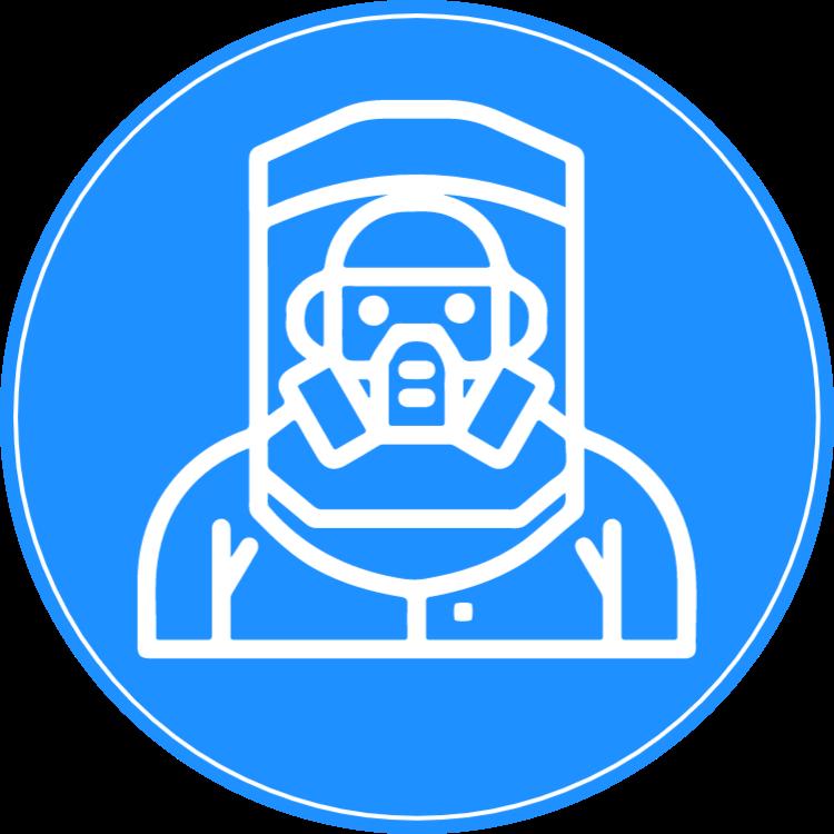 Skyddsdräkt - klistermärke