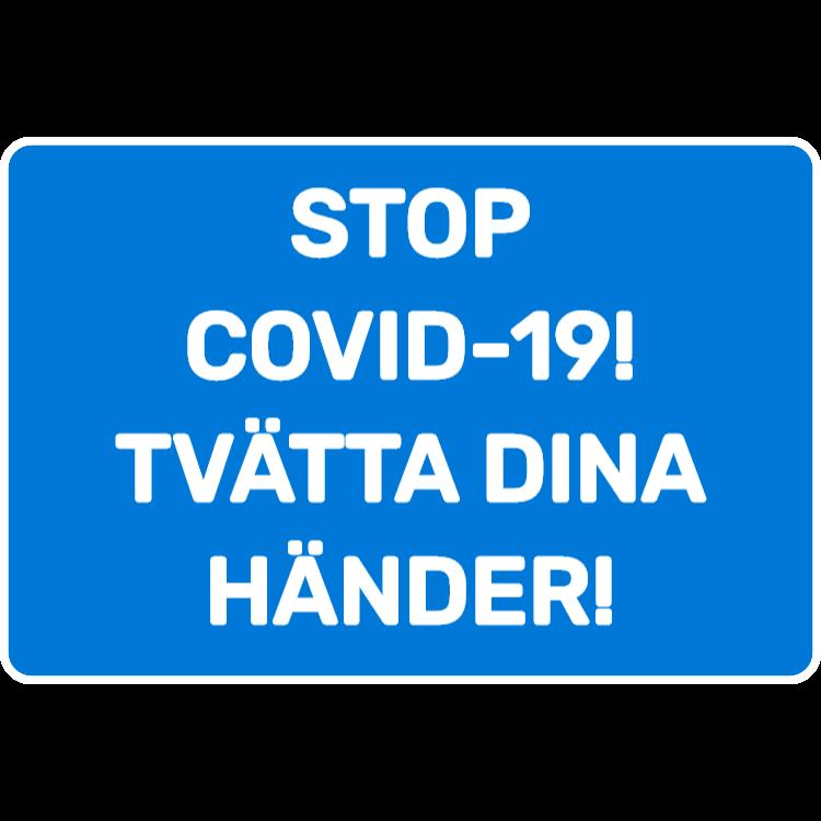 Stop covid-19 - tvätta dina händer