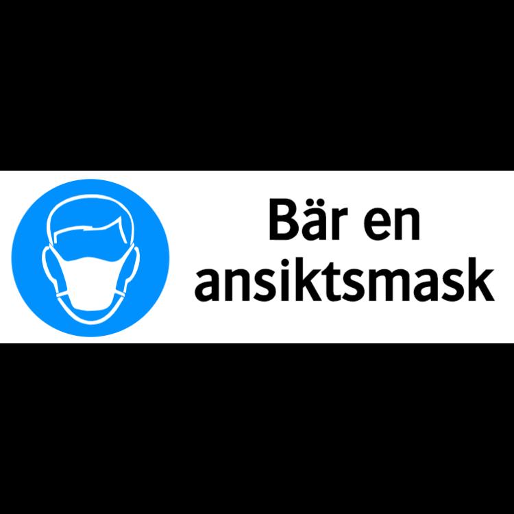 Bär ansiktsmask skylt