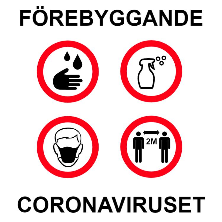Förebyggande coronaviruset - klistermärke