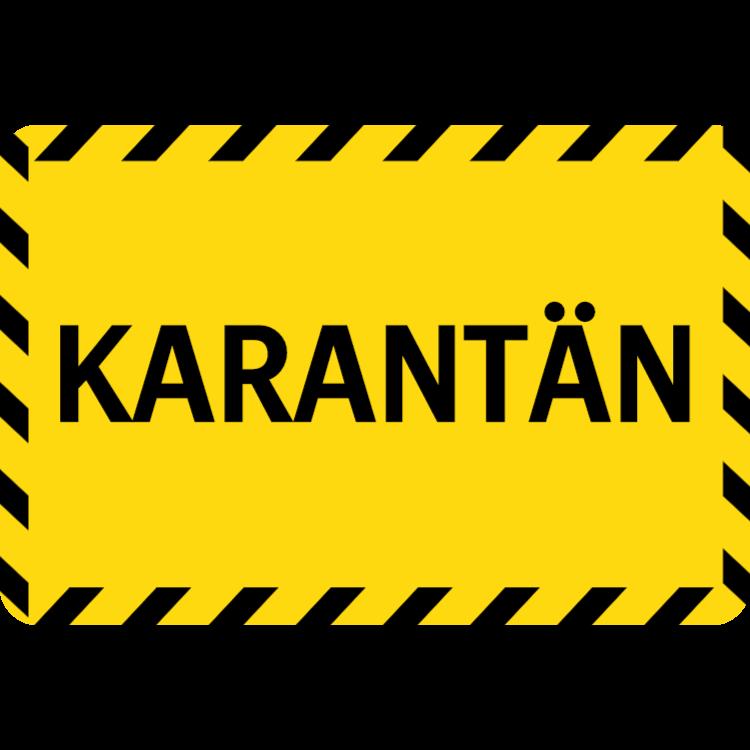Karantän - klistermärke